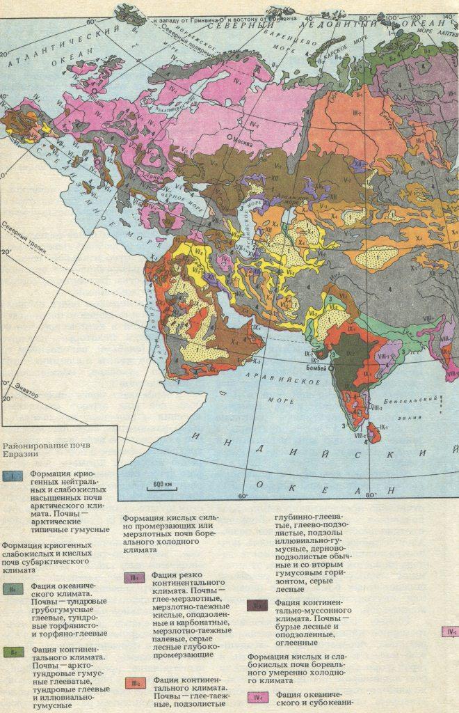 Районирование почв Евразии